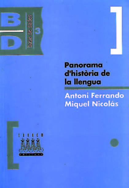 PANORAMA D´HISTÒRIA DE LA LLENGUA