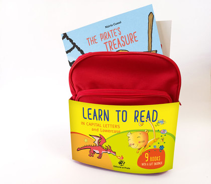 LEARN TO READ IN CAPITAL LETTERS AND LOWERCASE. 9 CHILDREN´S BOOKS WITH A FREE BACKPACK