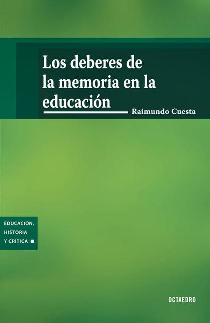 LOS DEBERES DE LA MEMORIA EN LA EDUCACIÓN