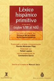 LÉXICO HISPÁNICO PRIMITIVO SIGLOS VIII AL XII