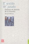 EL SENTIDO DEL PASADO. ENSAYOS DE HISTORIA DE FILOSOFIA                         ENSAYOS DE HIST