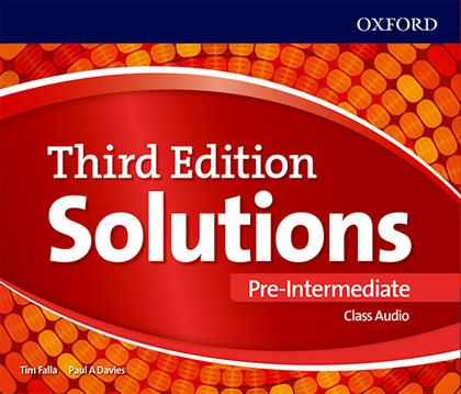 SOLUTIONS 3RD EDITION PRE-INTERMEDIATE. CLASS AUDIO CD.