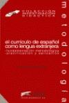 CURRICULO ESPAÑOL LENGUA EXTRANJERA