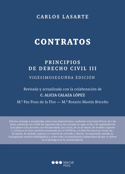 PRINCIPIOS DE DERECHO CIVIL                                                     TOMO III: CONTR