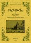 LA PROVINCIA DE MADRID : BIBLIOTECA DE LA PROVINCIA DE MADRID : CRÓNICA DE SUS PUEBLOS