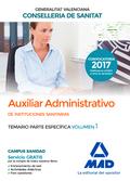 AUXILIAR ADMINISTRATIVO DE LA CONSELLERIA DE SANITAT DE LA GENERALITAT VALENCIAN