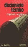 DICCIONARIO TÉCNICO ESPAÑOL-INGLÉS