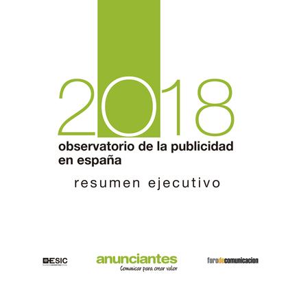 OBSERVATORIO DE LA PUBLICIDAD EN ESPAÑA 2018