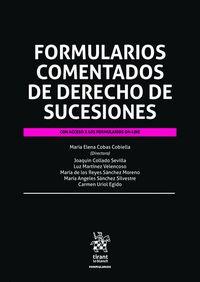 FORMULARIOS COMENTADOS DE DERECHO DE SUCESIONES.