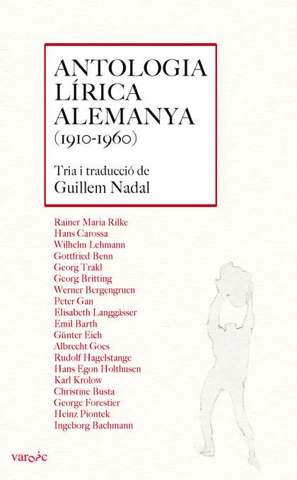 ANTOLOGIA LÍRICA ALEMANYA (1910-1960)