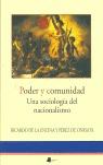 PODER Y COMUNIDAD: UNA SOCIOLOGÍA DEL NACIONALISMO