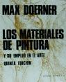 MATERIALES DE PINTURA Y SU EMPLEO EN EL ARTE