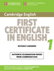 CAMBRIDGE FIRST CERT.ENGLISH 1 UPD.EXA.ST WITHOUT
