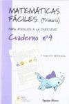 MATEMÁTICAS FÁCILES 4, EDUCACIÓN PRIMARIA