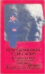 FENOMENOLOGIA Y EDUCACION (CURTIS, B.)   Autoconciencia y su desarrollo.