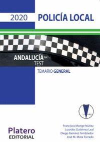 POLICÍA LOCAL DE ANDALUCÍA. TEST POR MATERIAS.