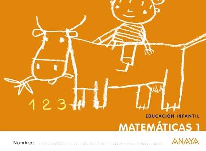 MATEMÁTICAS, 1 EDUCACIÓN INFANTIL, 3 AÑOS. CUADERNO