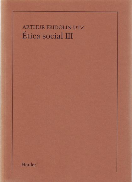ETICA SOCIAL III