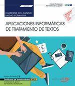 CUADERNO DEL ALUMNO. APLICACIONES INFORMÁTICAS DE TRATAMIENTO DE TEXTOS (TRANSVE