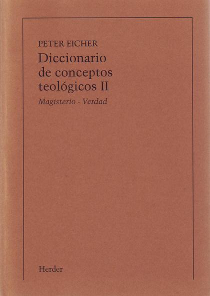 DICCIONARIO CONCEPTOS TEOLOGICOS,II