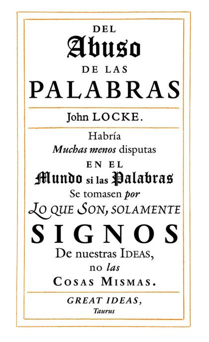 DEL ABUSO DE LAS PALABRAS.