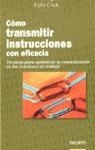 COMO TRANSMITIR INSTRUCCIONES CON EFICACIA