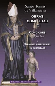 OBRAS COMPLETAS DE SANTO TOMÁS DE VILLANUEVA. IX:  CONCIONES 393-454. SERMONES C.