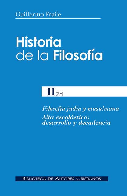 HISTORIA DE LA FILOSOFÍA II.