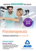 FISIOTERAPEUTA DEL SERVICIO ARAGONÉS DE SALUD. TEMARIO ESPECÍFICO VOLUMEN 2