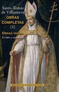 OBRAS COMPLETAS DE SANTO TOMÁS DE VILLANUEVA. X:  TRATADOS Y OTROS ESCRITOS.