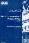 VERDAD TRASCENDENTAL Y VERDAD FORMAL (1643)