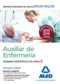 AUXILIARES DE ENFERMERÍA DEL SERVICIO RIOJANO DE SALUD. TEMARIO ESPECIFICA VOL 2.