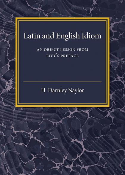 LATIN AND ENGLISH IDIOM