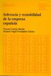 SOLVENCIA Y RENTABILIDAD DE LA EMPRESA ESPAÑOLA.