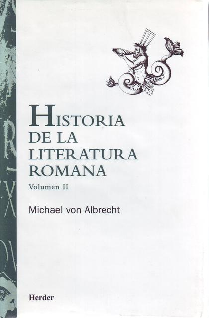 HISTORIA DE LA LITERATURA ROMANA V.II