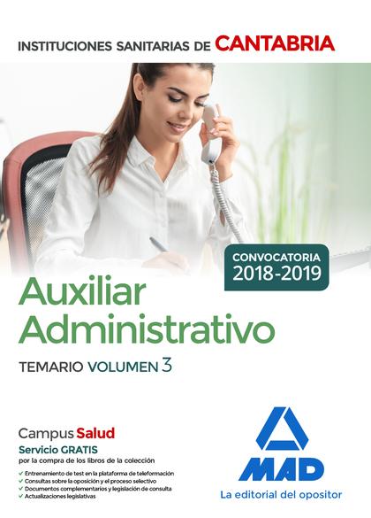 AUXILIAR ADMINISTRATIVO DE LAS INSTITUCIONES SANITARIAS DE LA COMUNIDAD AUTÓNOMA