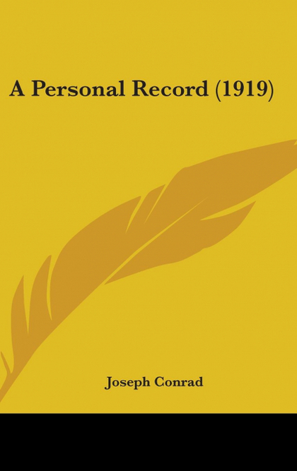 A PERSONAL RECORD (1919)