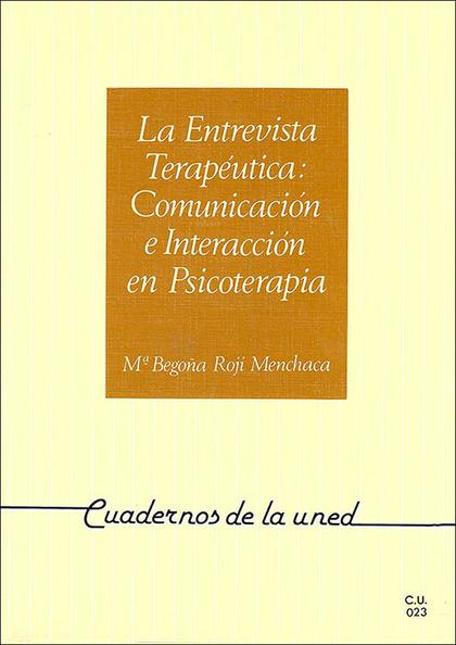 REF 35023CU0 ENTREVISTA TERAPEUTICA COM.E INTEGRAC.