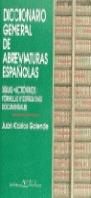 DICCIONARIO GENERAL ABREVIATURAS ESPAÑOLAS