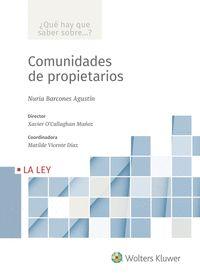 COMUNIDADES DE PROPIETARIOS.