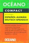 OCEANO COMPACT, DICCIONARIO ESPAÑOL-ALEMÁN / DEUTSCH-SPANISCH
