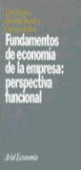 FUNDAMENTOS DE ECONOMIA DE LA EMPRESA PERSPECTIVA FUNCIONAL