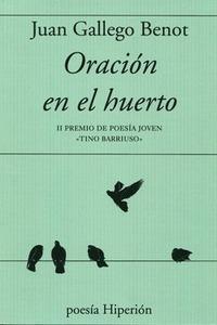 ORACION EN EL HUERTO. II PREMIO DE POESIA JOVEN ´TINO BARRISUO´