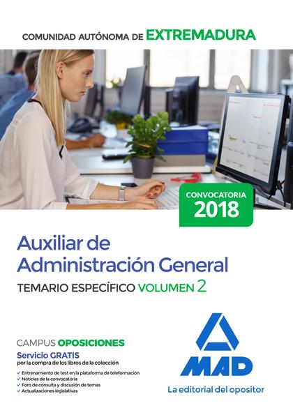 AUXILIAR DE ADMINISTRACIÓN GENERAL DE LA COMUNIDAD AUTÓNOMA DE EXTREMADURA. TEMA