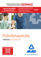 FISIOTERAPEUTA DEL SERVICIO DE SALUD DE LA COMUNIDAD DE MADRID. TEMARIO VOLUMEN.