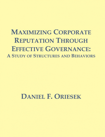 MAXIMIZING CORPORATE REPUTATION THROUGH EFFECTIVE GOVERNANCE