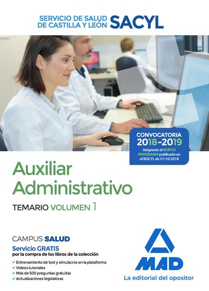 AUXILIAR ADMINISTRATIVO DEL SERVICIO DE SALUD DE CASTILLA Y LEÓN (SACYL). TEMARI.