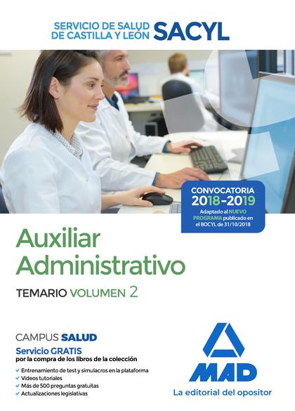 AUXILIAR ADMINISTRATIVO DEL SERVICIO DE SALUD DE CASTILLA Y LEÓN (SACYL). TEMARI