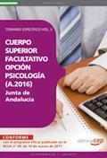 CUERPO SUPERIOR FACULTATIVO DE LA JUNTA DE ANDALUCÍA, OPCIÓN PSICOLOGÍA (A.2016).
