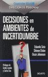 DECISIONES EN AMBIENTES DE INCERTIDUMBRE